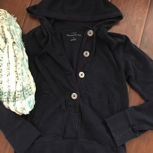 J Crew Washed Heavyweight Jersey Pullover S